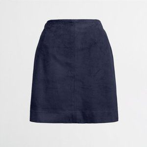 J. Crew Faux-suede seamed skirt NWT Size 8